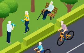 Trening Nordic Walking i fitness dla kobiet w starszym wieku