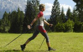Siły reakcji podłoża, ruch tylnej części stopy i przyśpieszenie nadgarstka podczas uprawiania Nordic Walking